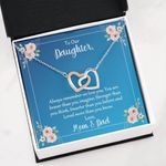 Mom And Dad Gift For Daughter Loved More Than You Know Interlocking Hearts Necklace