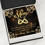 The Sweetest Gift From God Infinity Heart Necklace Gift For Mom
