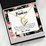 My Future Seems Brighter Gift For Fiancee 18K Gold   Forever Love Necklace
