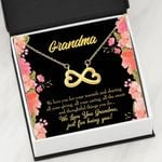 Infinity Heart Necklace Gift For Grandma We Love You For Your Warmth