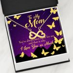 Infinity Heart Necklace Gift For Mom Always Been There