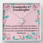 Love Knot Necklace Grandmother Gift For Granddaughter We Are Linked Together