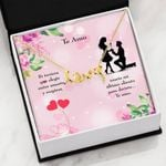 Te Amo Scripted Love Necklace Gift For Lovers Loving Message Card