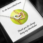 Interlocking Hearts Necklace Gift For Softball Mom Thank You