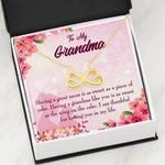 Infinity Heart Necklace Gift For Grandma Thankful For Having You