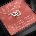 Interlocking Hearts Necklace Gift For Daughter You Give A Lot