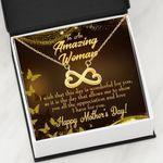 Infinity Heart Necklace Gift For Mom Show You All The Appreciation