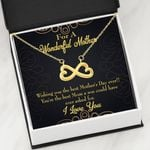 The Best Mom A Son Could Have Asked For Infinity Heart Necklace Gift For Mom