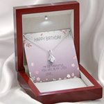 You Are In My Life Message Card Alluring Beauty Necklace Gift For Mom
