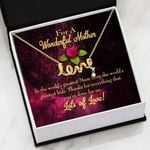 Lots Of Love Gift For Mom 18K Gold Scripted Love Necklace