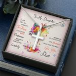 Wish You The Strength Cross Necklace Dad Gift For Daughter
