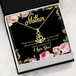 Meaningful Gift For Mother Hugs And Kisses Anchor Necklace
