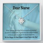Love Knot Necklace Gift For Nurse When I Got Hurt