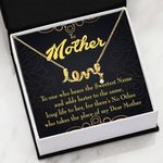 The Sweetest Name Message Card Scripted Love Necklace Gift For Mom