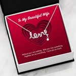 To My Beautiful Wife Love You So Much Scripted Love Necklace