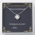 Will You Be My Bridesmaid Love Knot Necklace Gift For Friend