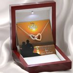 Life Is Perfect Interlocking Hearts Necklace Gift For Wife