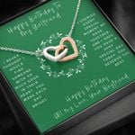 Interlocking Hearts Necklace Birthday Gift For Lovers Special Day With You