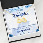 You Are My Miracle Infinity Heart Necklace Dad Gift For Daughter