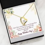 The Right Ways With Yo 18K Gold Forever Love Necklace Gift For Wife Forever Love Necklace Forever Love Necklace