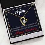 Mom Birthday Gift Special Day Blessings And Joy   Forever Love Necklace