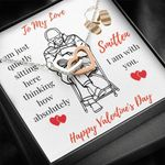 Interlocking Hearts Necklace Gift For Lovers How Absolutely Smitten I Am With You