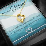 You Be The Anchor Gift For Friend 18K Gold   Forever Love Necklace