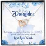 You Are My Miracle Interlocking Hearts Necklace Dad Gift For Daughter
