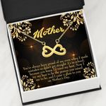 When I Made Mistakes Infinity Heart Necklace Gift For Mom
