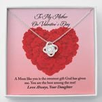 Love Knot Necklace Daughter Gift For Mother The Sweetest Gift