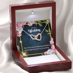 True Love Can Bring Gift For Wife On Wedding Day Interlocking Hearts Necklace