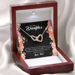 Never Forget Dad Loves You Interlocking Hearts Necklace Gift For Daughter