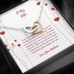 Our Connection Grows Deeper Each Day Interlocking Hearts Necklace Gift For Wife