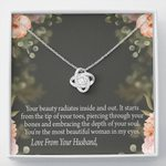 The Depth Of Your Soul Love Knot Necklace Gift For Wife