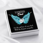 On The Sas Loss Of Your Dad Gift For Angel Dad Remembrance Angel Wing Necklace