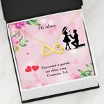 Mi Alma Encontre A Quien Mi Alma Ama Infinity Heart Necklace Gift For Women