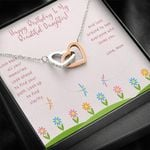 Interlocking Hearts Necklace Mom Gift For Daughter Look Back All Your Memories