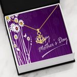Purple Happy Mother's Day Gift For Mom Anchor Necklace