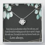 Love Knot Necklace Gift For Future Wife Start My Forever Beside You