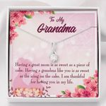 Thankful For Having You In My Life Gift For Grandma 14K White Gold Alluring Beauty Necklace