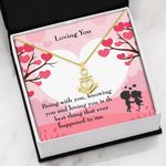 Loving You Being With You Gift For Lover Anchor Necklace
