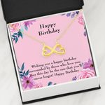Wishing You A Happy Birthday Infinity Heart Necklace Gift For Women