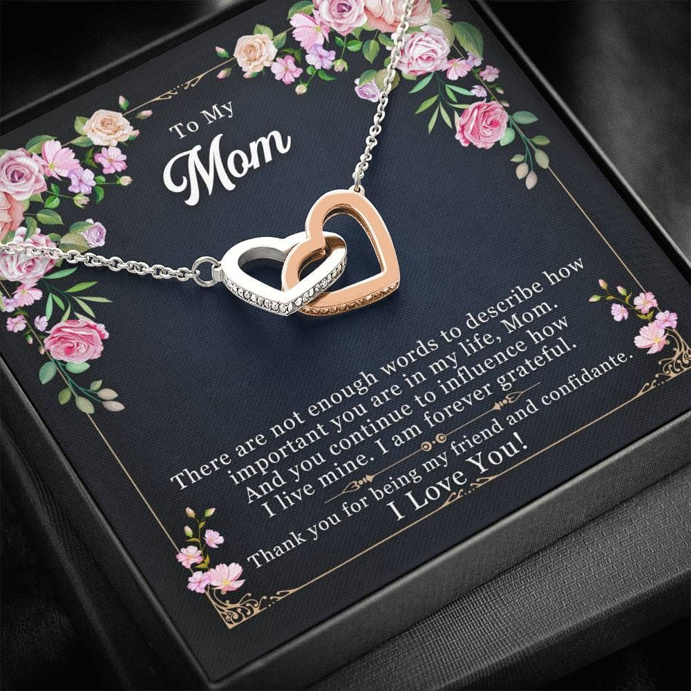 Interlocking Hearts Necklace Gift For Mom Thank For Being My Friend