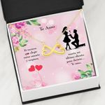 Te Amo Spanish Ligh Pink Background Infinity Heart Necklace Gift For Wife