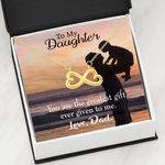 The Greatest Gift Infinity Heart Necklace Dad Gift For Daughter