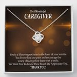 Nurse Gift To a Wonderful Caregiver Love Knot Necklace Nurse Appreciation Gift Necklace