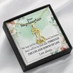 To My Stepdaughter The Ups And Downs Giraffe Couple Necklace