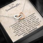 Interlocking Hearts Necklace Grandpa Gift For Granddaughter Morning Noon And Night