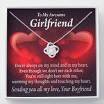 Love Knot Gift For Lovers Always Warm My Thoughts