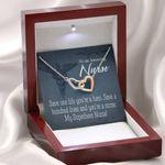 My Superhero Always Interlocking Hearts Necklace Gift For Nurse